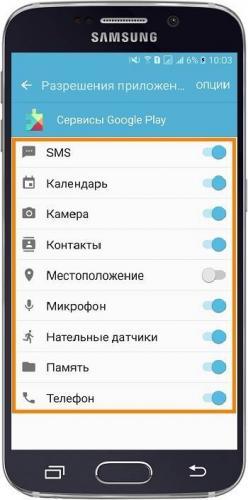 Разрешения удаленного управления Андроид