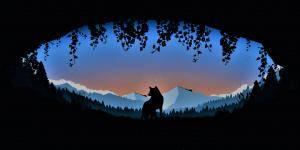 Minimalism Wolf Audio Visualizer 4K