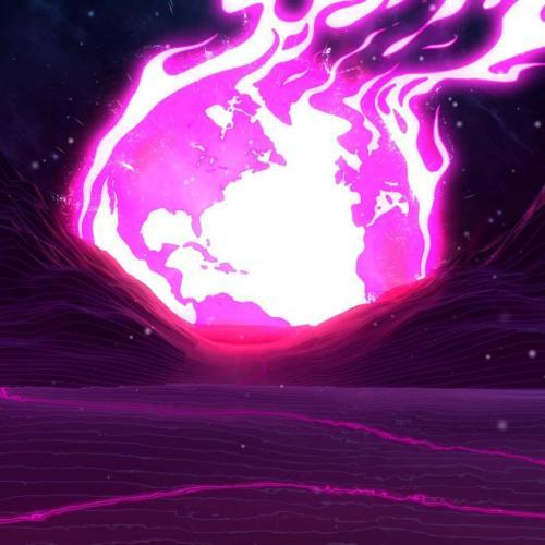 Фиолетовое солнце - Живые обои графика/3D